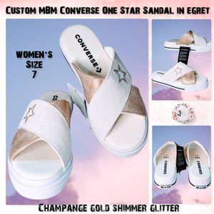 🆕Custom MBM Converse One Star Sandals size 7
